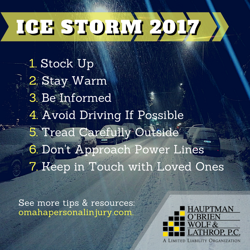 Ice Storm Safety Tips