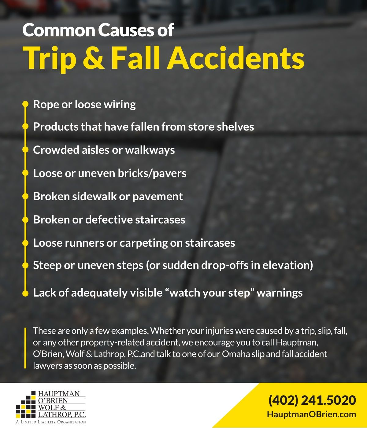 Common Causes of Trip and Fall Accidents