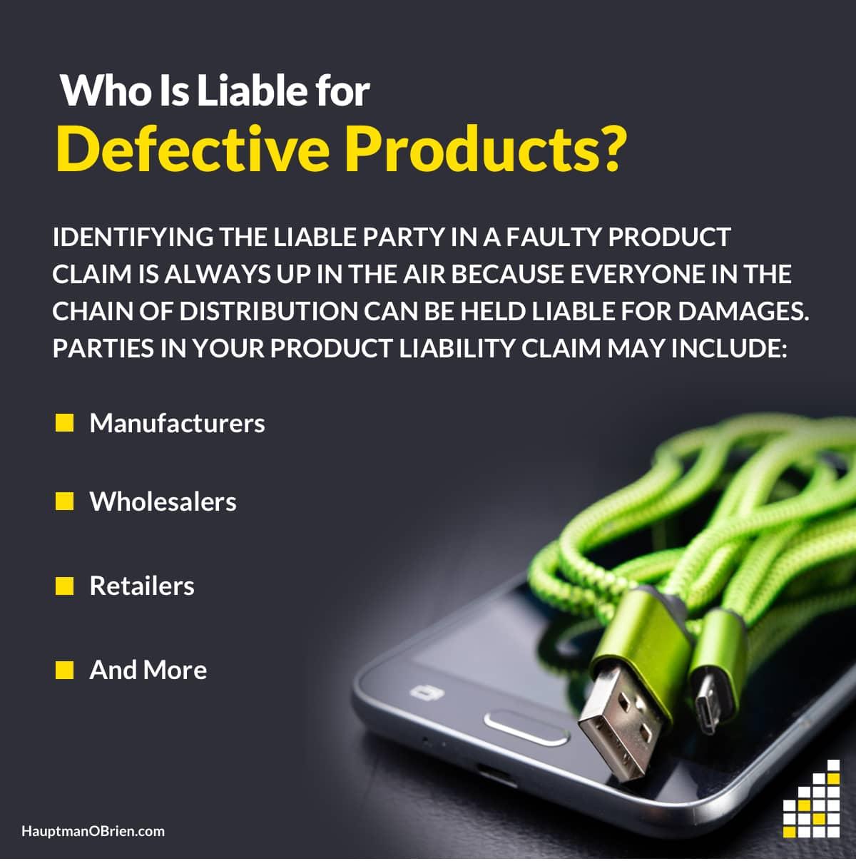 Liability for Defective Products   Hauptman, O'Brien, Wolf and Lathrop